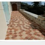 Protection d'une terrasse en terre cuite à Antibes