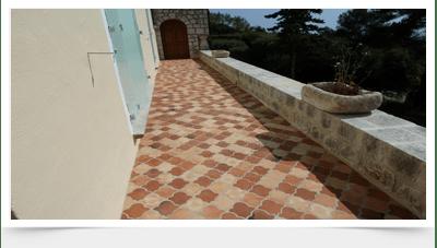 Galerie image traitement terasse en terre cuite - Terrasse terre cuite ...